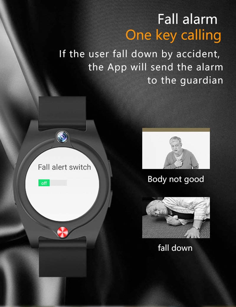 NEW 4G Elder Smart Watch G52 Heart Rate Blood Pressure Kids SOS Voice chat video call Alarm Clock Camera Outdoor GPS Track Watch
