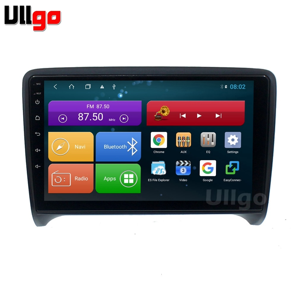 9 дюймов 4G RAM + 64G ROM Восьмиядерный Android 8,1 автомобильный Головной блок для Audi TT MK2 8J 2006-2012 Авторадио GPS Мультимедиа с Wifi