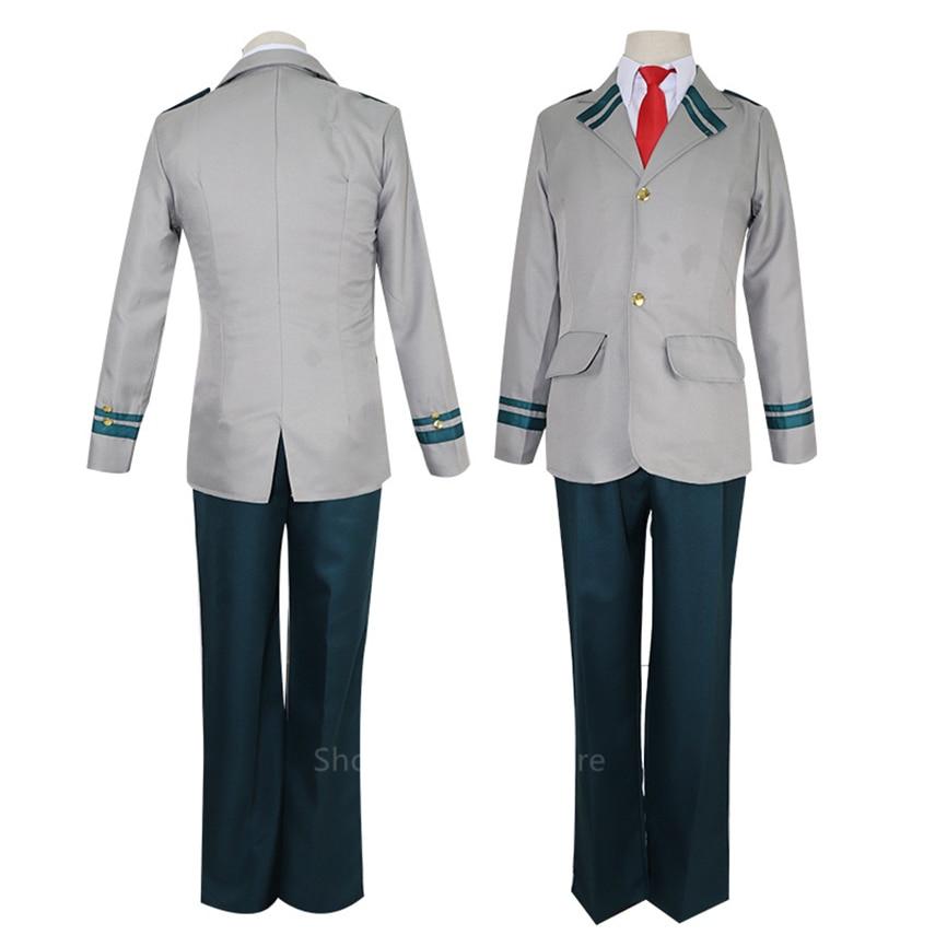 Traje de Cosplay de Anime japonés para hombres, uniforme de colegio de estilo británico, traje de escenario de manga larga de mi héroe Academia ortodoxa marinera