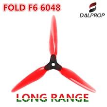 8PCS DALPROP Fold F6 6inch 6048 FPV Long Range Foldable 3-Blade Propeller for RC Drone FPV 6inch 6S 1700KV/1800KV Motors