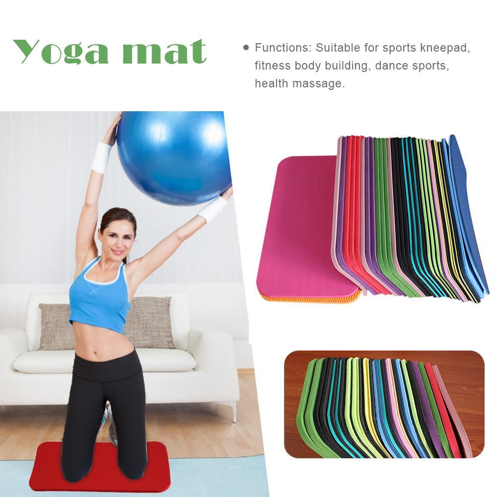 2pc tapete de yoga mini almofada de joelho antiderrapante esteiras de yoga de pilates resistente à umidade para prancha pilates exercício esportes ginásio fitness workout