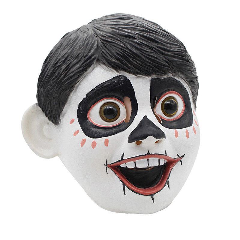 Mais novo Engraçado Realista Anime Filme CoCo Miguel Cosplay Máscara De Látex Cabeça Cheia Bola Fantasia Capacete Traje Adereços Máscaras