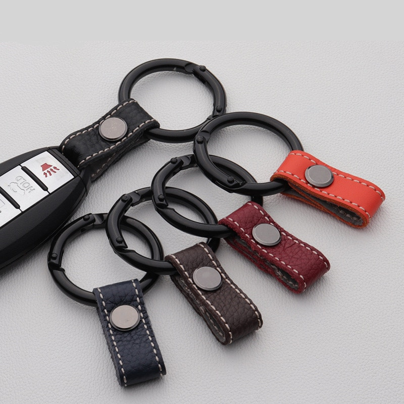 Genuine Leather Lanyard For Keys  Car Key Holder Key Rings Key  Buckle Keychain  Keyring Gift