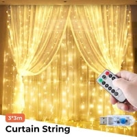 8 functions usb 3x1m 2m 3m christmas lights led curtain copper wire string light wedding party room decoration holiday lighting