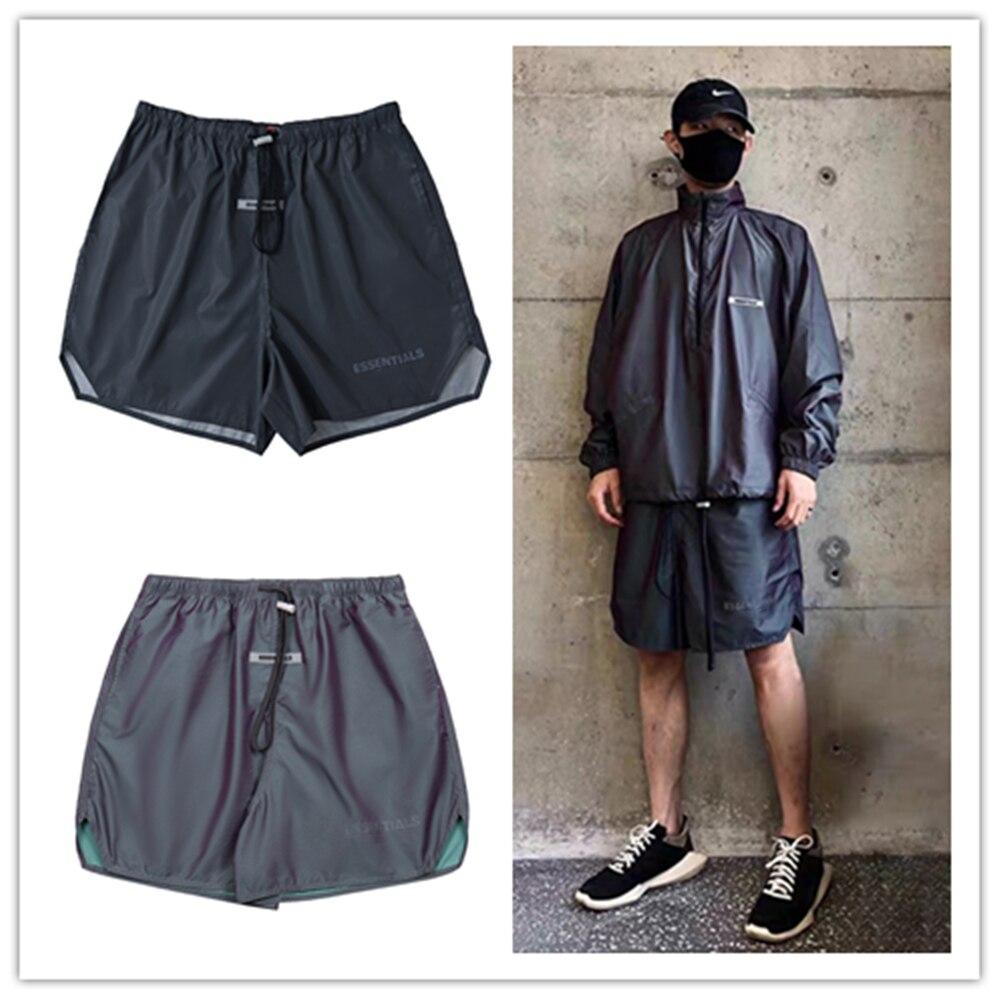 Яркие незаменимые ослепительные мужские брюки KANYE в стиле High Street, женские мужские повседневные шорты в стиле Джастина Бибера в стиле хип-хоп