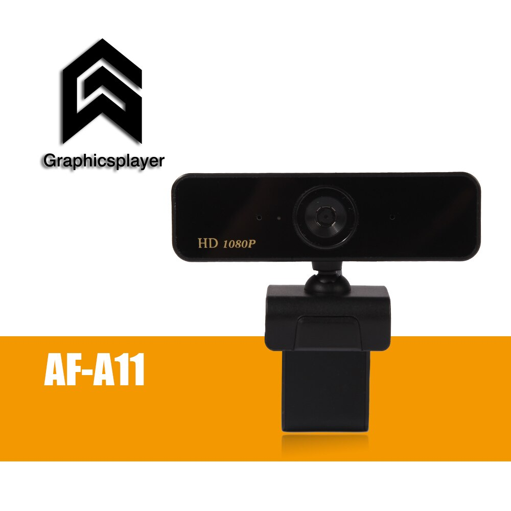 كاميرا ويب بتركيز تلقائي 1080P ، كاميرا HDWeb مع ميكروفون HD مدمج 1920x1080p قابس USB