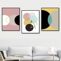 minimalist abstract color block geometric wall art canvas painting nordic posters and prints wall pictures for living room decor