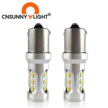 CNSUNNYLIGHT רכב זנב אור 1156 LED BA15S/P21W BAU15S/PY21W S25 3030 9SMD אוטומטי בלם הפוך מנורת DRL אחורי חניה נורות