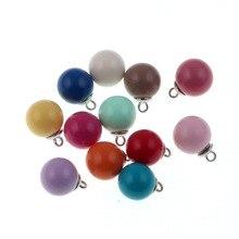 10 pièces 16mm couleurs de bonbons mélangées rondes/carrées pendentifs acryliques pour la fabrication de bijoux collier à faire soi-même pendentifs à la main épaisseur 16mm