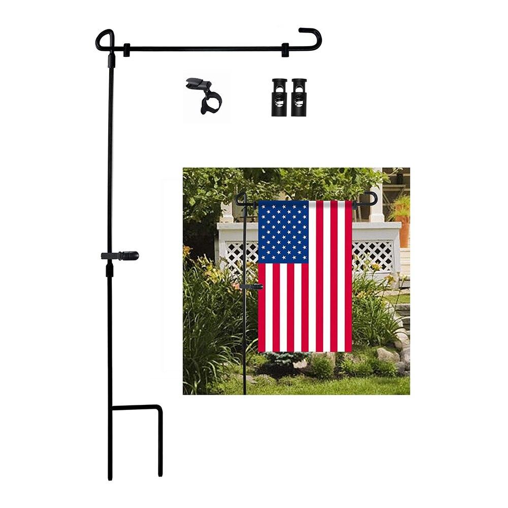 Железные баннеры, аксессуары для сада, флагшток, черная кованая маленькая стойка для флага, садовый флагшток, держатель для флага, дисплей