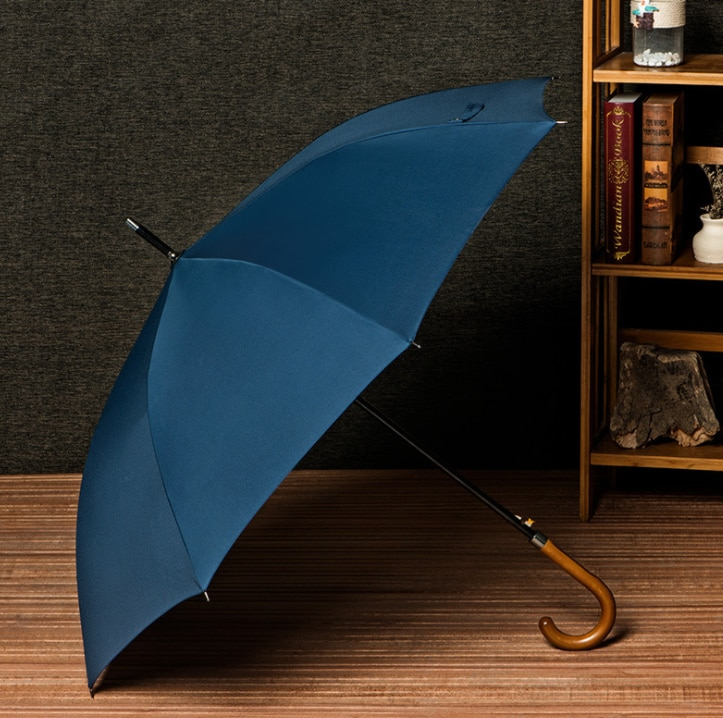 Ponto guarda-chuva alemão em linha reta guarda-chuva de negócios homem e mulher retro guarda-chuva longo lidar com guarda-chuva logotipo personalizado publicidade umbrel