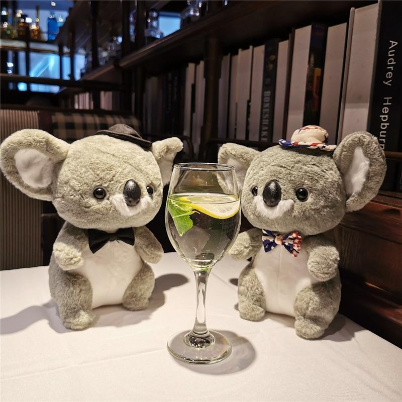 Nueva pareja australiana, Koala y ratón lindos de peluche, peluche suave de peluche, transformable Koala, ratón ins, juguete relajante para bebé, accesorios para bolsa
