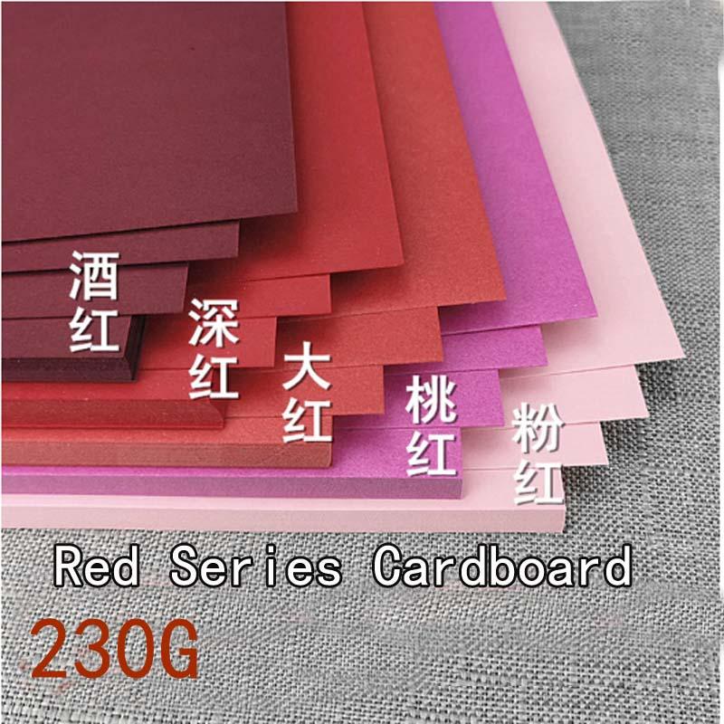 Картонная Бумага красной серии 230 г, плотная стационарная картонная бумага для рукоделия для детей, картонная бумага формата А4 и А3 для цвет...