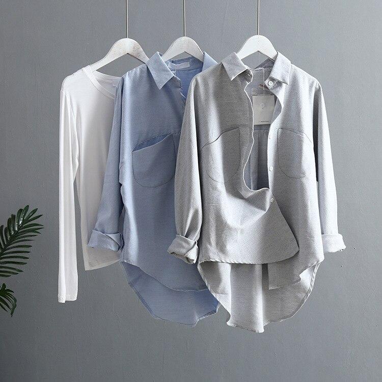 2020 Spring Women Summer Blouse Korean Long Sleeve Womens Tops And Blouses Vintage Shirts Blusas  Feminina