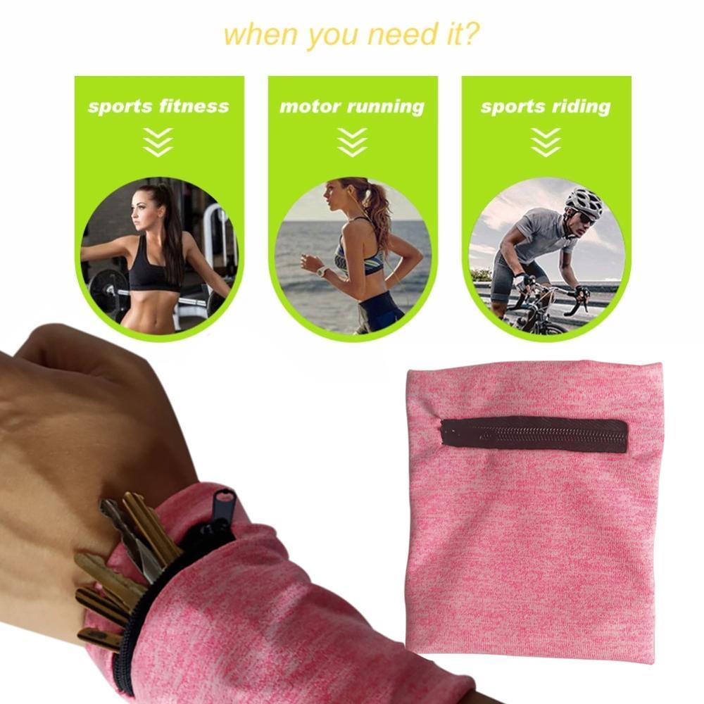 Monedero para la muñeca Running brazalete deportivo para MP3 tarjeta clave bolsa de almacenamiento caso bádminton baloncesto muñequera