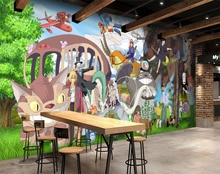 [Autoadhesivo] 3D mi vecino Totoro 014372 Japón Anime pared papel mural pared pegatina pared murales