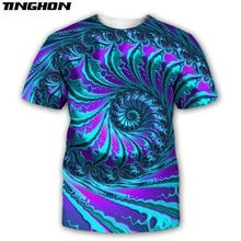 XS-7XL Fashion Trippy T-shirt Glow in the Dark 3D Psychedelic Print Men Women Short Sleeves Summer Streetwear Casual T shirt 12