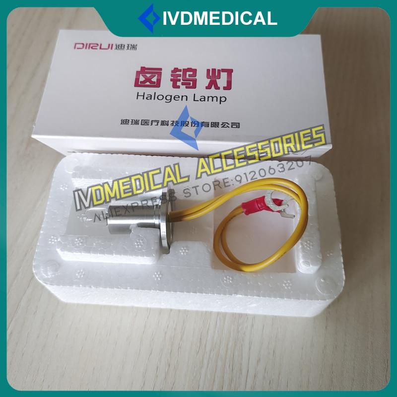 Original Dirui CS-T240 CS-T300 CS300 CS400 CS600 CS800 CS1200 CS1300 Chemistry Analyzer Halogen Lamp Bulb 12V 20W