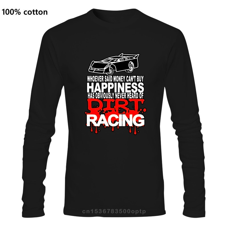 Glück ist Dirt Track Racing Drag Racing Sprint Auto Racing T-Shirts    -