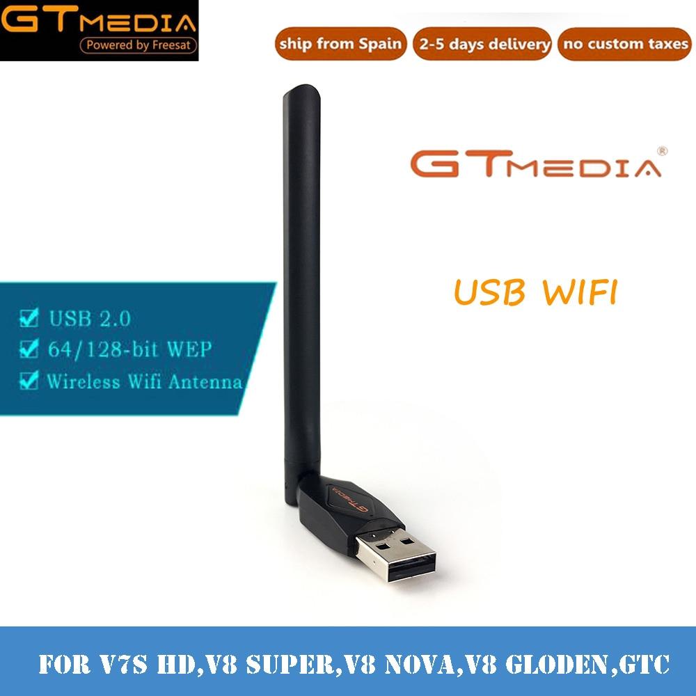 GTMEDIA WiFi USB Adaptador de antena para gtmedia V7 más V7S receptor...