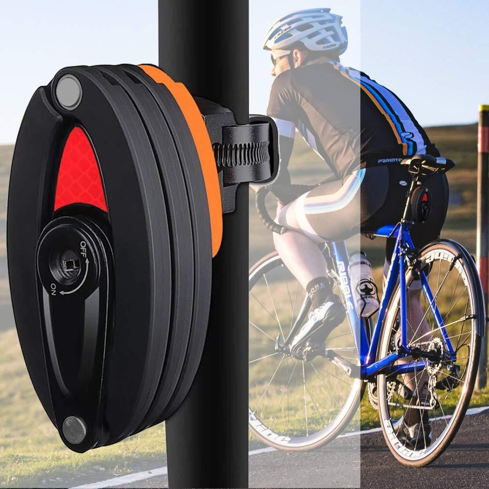Nuevo seguro plegable para bicicleta con bloqueo antirrobo de alta seguridad, soporte de montaje de aleación para bicicleta de montaña y carretera