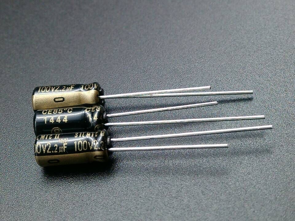 20 peças novo elna rfs silmic ii 100v2. 2uf 5x11mm silmici 2.2uf 100v venda quente silmic2 2.2 uf/100 v capacitor de áudio 100v 2.2uf