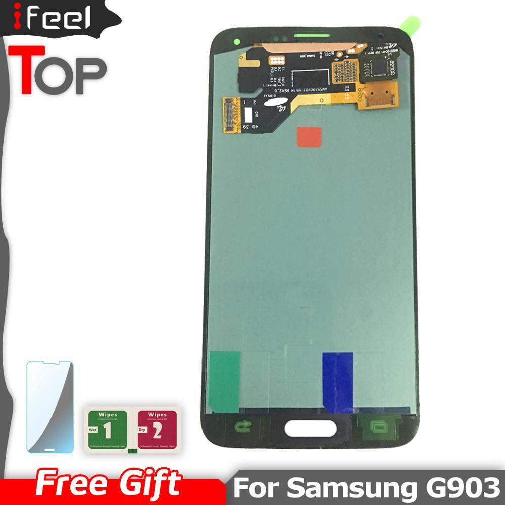 Super AMOLED para SAMSUNG GALAXY S5 NEO G903 G903F, pantalla LCD + ensamblaje digitalizador de pantalla táctil