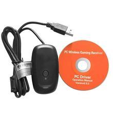 Беспроводной геймпад для ПК адаптер контроллер игровой USB ресивер для Xbox 360 консоли на компьютере для работы с персональными компьютерами, компакт диск с драйверами
