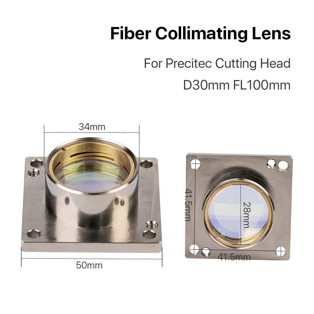 Lente de colimación y enfoque BM65 Precitec con tubo láser para cabezal de corte láser de fibra