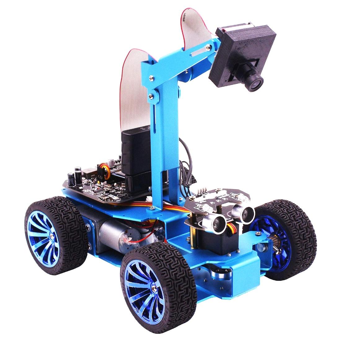 Hot STM32 Visual Robot OV7670 Camera Tracking OLED Screen Independent Steering Robotics High-Power Motor For Children Kids Toys