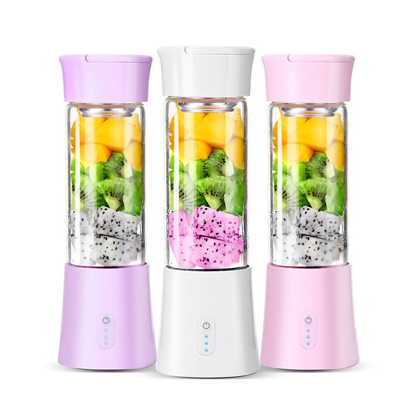 T8 Portable Mini 380ml Personal Blender Small USB Fruit Juicer Mixer Home Office