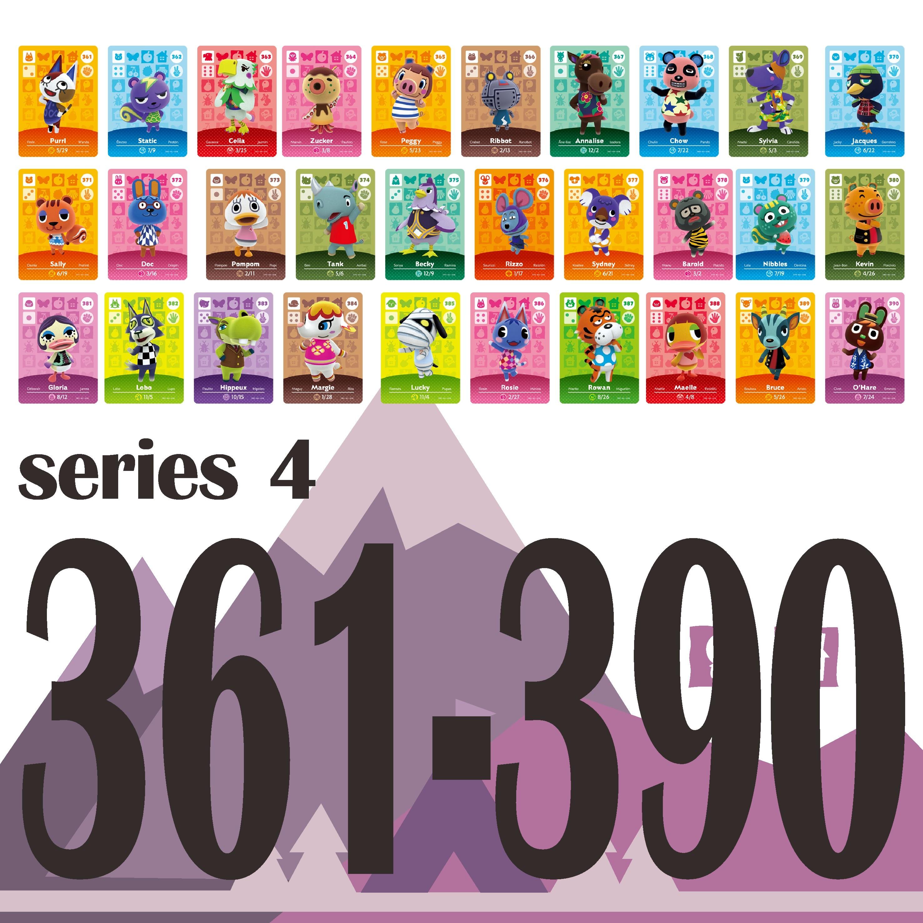 Карточка для скрещивания животных Amiibo карта работы для NS игровой коммутатор Rosie приветственные наклейки Amibo Ankha NFC серия 4 (361 до 390)