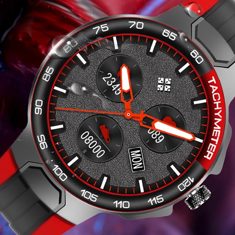 2021 موضة ساعة ذكية الرجال الساعات الرياضية IP68 مقاوم للماء لتحديد المواقع المسار معدل ضربات القلب ضغط الدم الطقس الرياضة سوار لياقة بدنية