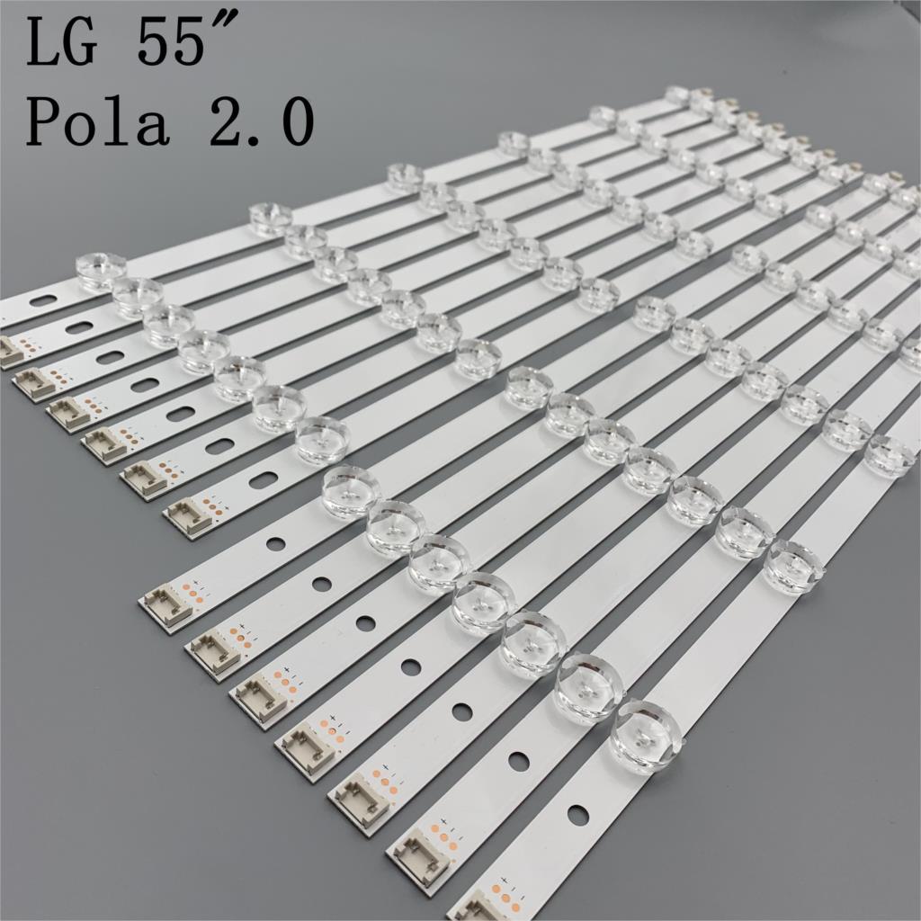 جديد الأصلي 14 قطعة/المجموعة LED شريط إضاءة خلفي ل LG 55LN5400 55LN6200 55LA6210 55LA6208 LZ5501LGEPWA DL84 rl Pola2.0 55 بوصة