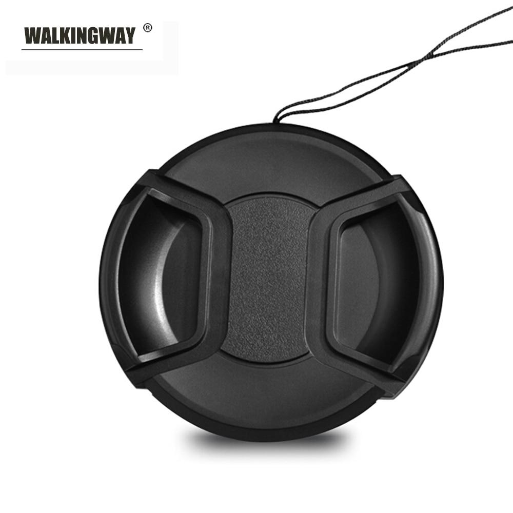 Walkingway soporte para tapa de objetivo 43/49/52/55/58/62/67/72/77/82mm pellizco central Snap-on tapa de la lente