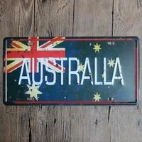 australla home decorations for the decoration of the wall art of posters of the sample of the metal plate