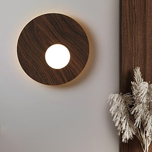 2021 Minimalist Wall Lamps Creative Round 12W Bedroom Bedside Lamp  Living Room Background Wall Staircase Porch Aisle Lighting