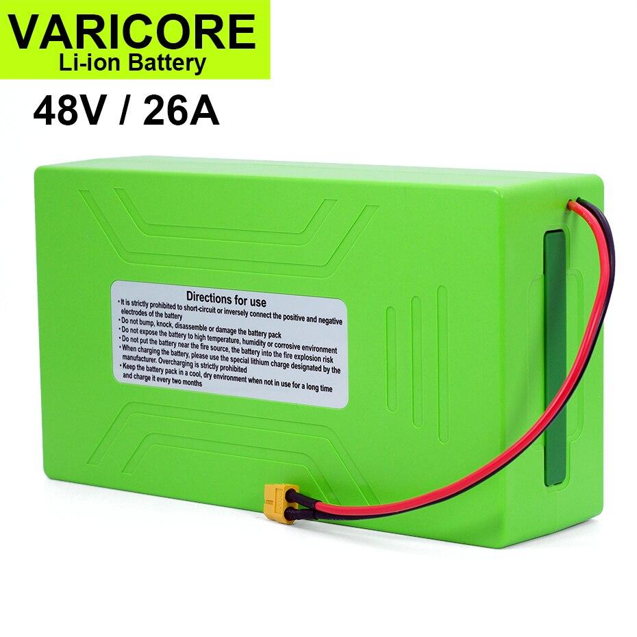 VariCore-بطارية ليثيوم أيون 54.6 ، 48V/18650 V ، 26Ah ، 2000W ، 30a ، BMS متكامل ، للدراجة الكهربائية ، تعديل الدراجة النارية ، موصل XT60