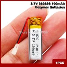 3.7v 100mAh 350829 Polimeri di Litio Li-Po Batteria Ricaricabile agli ioni di li Per La Macchina Fotografica di GPS Accumulatori E Caricabatterie Di Riserva Tablet Elettrico giocattoli PAD DVD