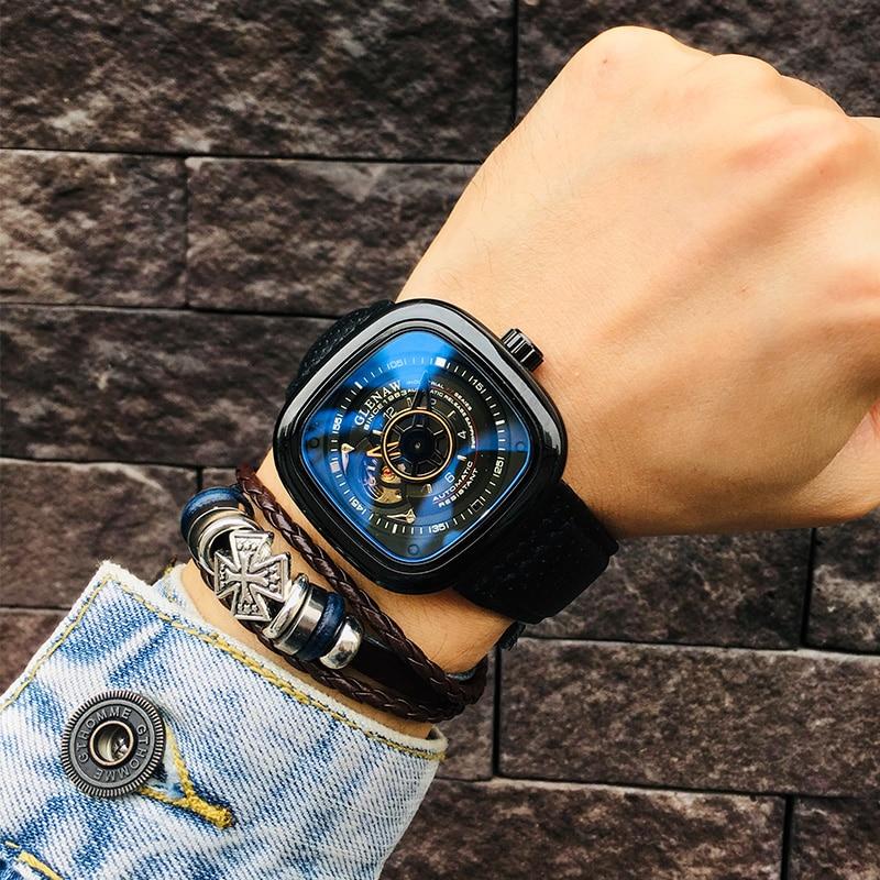 Reloj mecánico para hombre, reloj de pulsera para hombre, reloj de pulsera para hombre, reloj militar calado, regalos para hombre