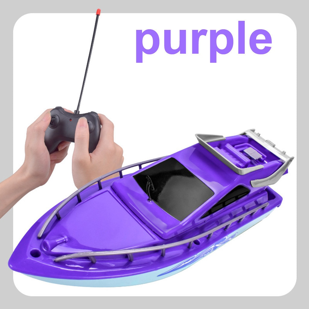 Twin Motor High Speed Electric Boat Plastic Launch Children RC Toys Speedboat Water Play Gift For Ki