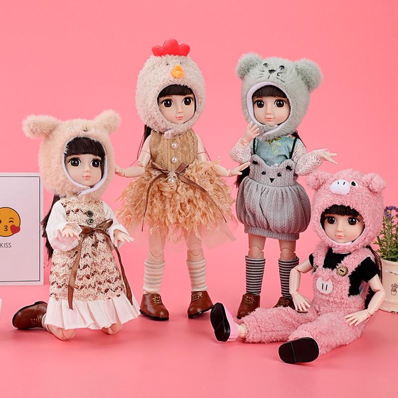 BJD Модная Кукла 36 см милые животные серии куклы Кролик Мышь собака свинья милые annimal Косплей куклы Модная Кукла DIY кукла подарок для девочек
