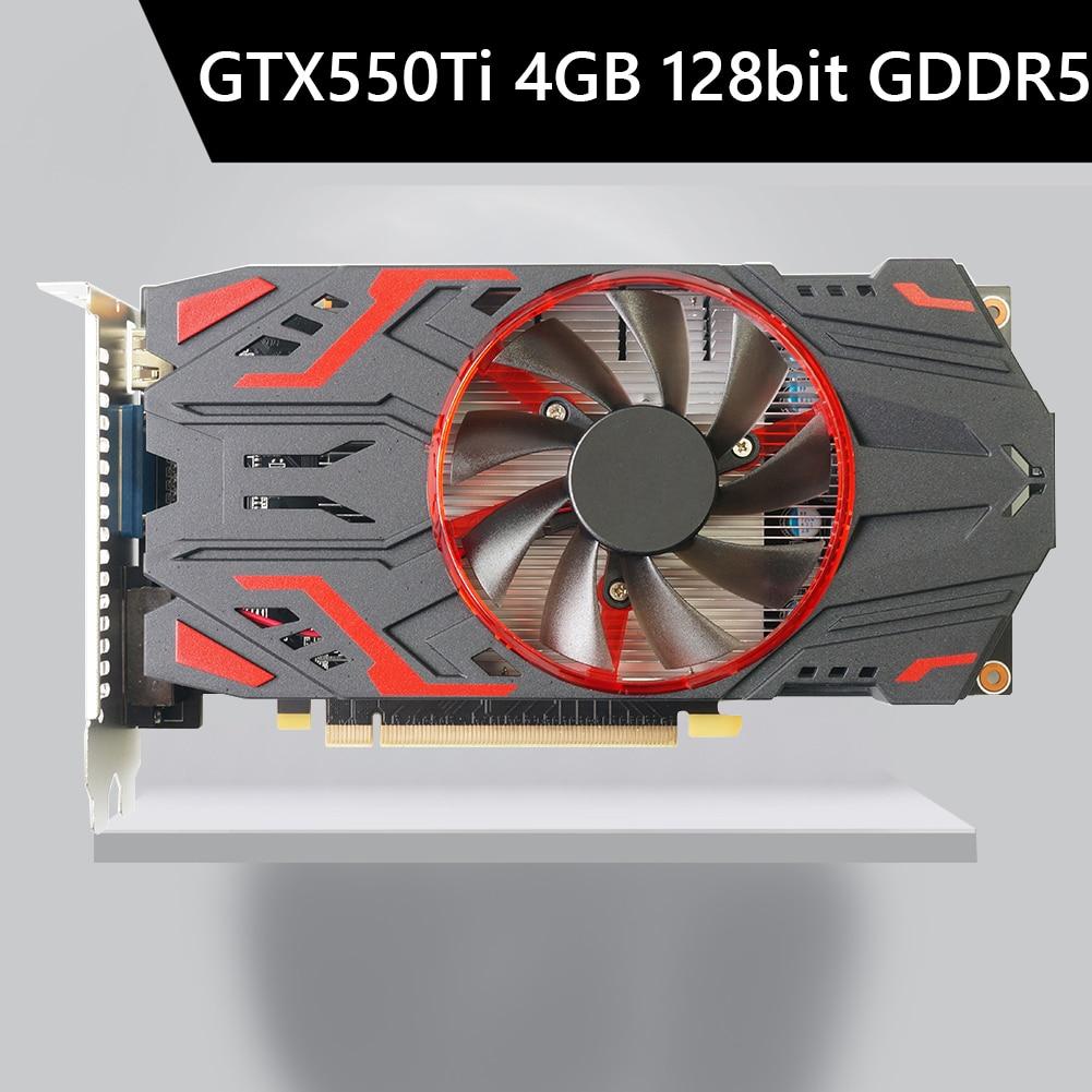 GTX550Ti 4GB 128bit GDDR5 NVIDIA الكمبيوتر بطاقات الرسومات الفيديو مراوح التبريد الكمبيوتر الألعاب بطاقة الرسومات مع مراوح التبريد