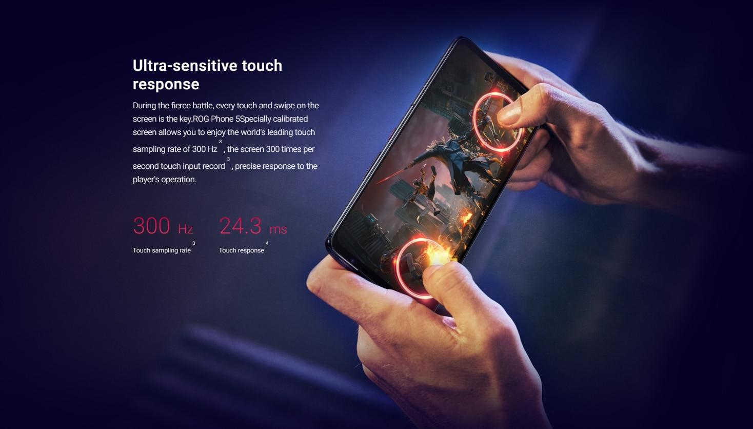 Original Asus ROG 5 5G Gaming Phone  Snapdragon 888 Fast Charging 6.78