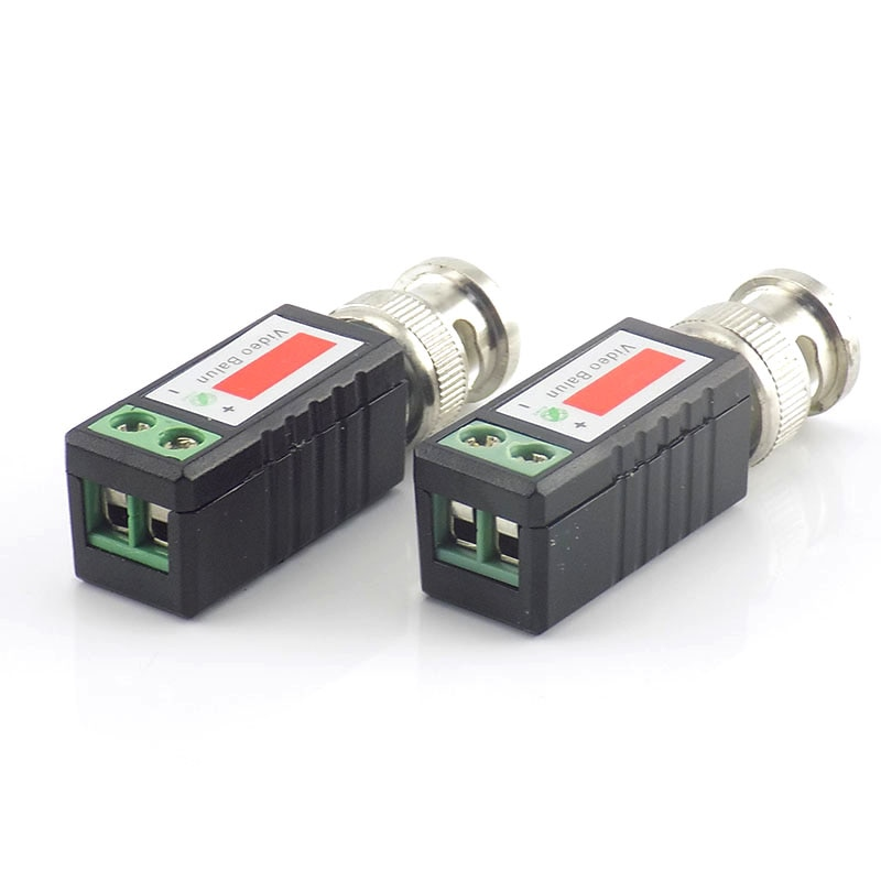 10Pairs Coax CAT5 CCTV Passive BNC Video Balun to UTP Transceiver Connector Twisted Cable For Video Surveillance Camera enlarge