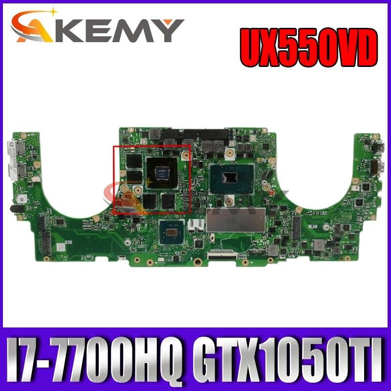Akemy UX550VD материнская плата для ноутбука ASUS ZenBook Pro UX550VE UX550V оригинальная материнская плата I7-7700HQ GTX1050TI-4G