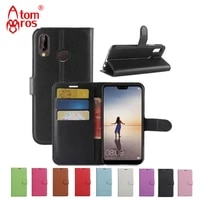 luxury flip leather case for huawei p smart p smart p smart pro p smart s wallet with card slots kickstand shell fundas coque