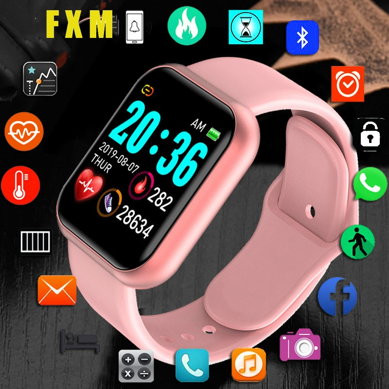 Y68 Bluetooth Women Sport Smartwatch Men Waterproof Smart Watch Heart Rate Monitor Smart Android Relogio Fitness Tracker reloj