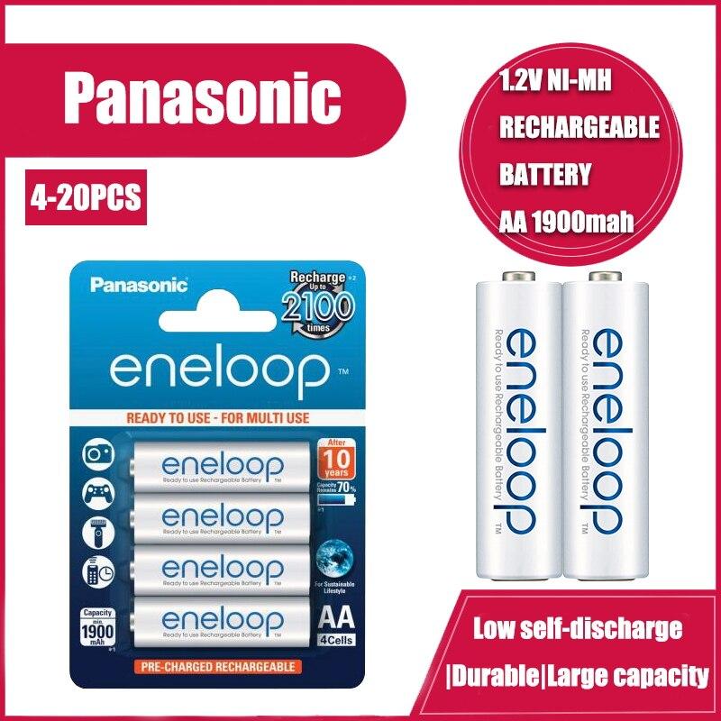 Panasonic eneloop 1900mah aa 1.2v ni-mh baterias recarregáveis para brinquedos elétricos lanterna câmera bateria pré-carregada