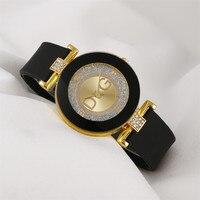 Простые черные, белые кварцевые часы, женские наручные часы с минималистичным дизайном и силиконовым ремешком, женские модные креативные ч...